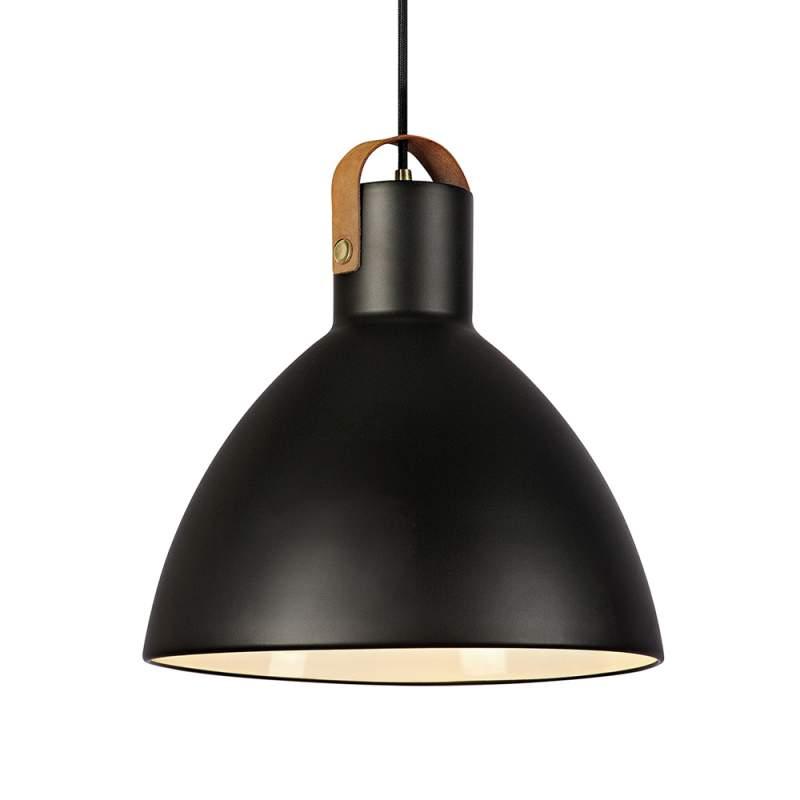 Hanglamp Eagle met metalen kap, zwart