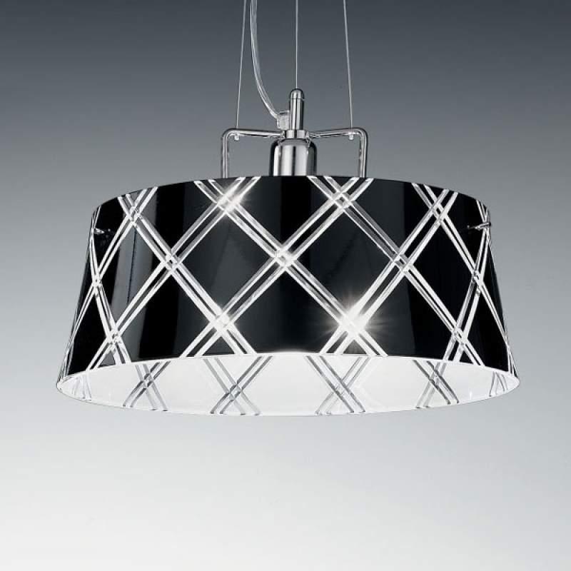 Elegante hanglamp CORALLO 40, 1-lichts, zwart