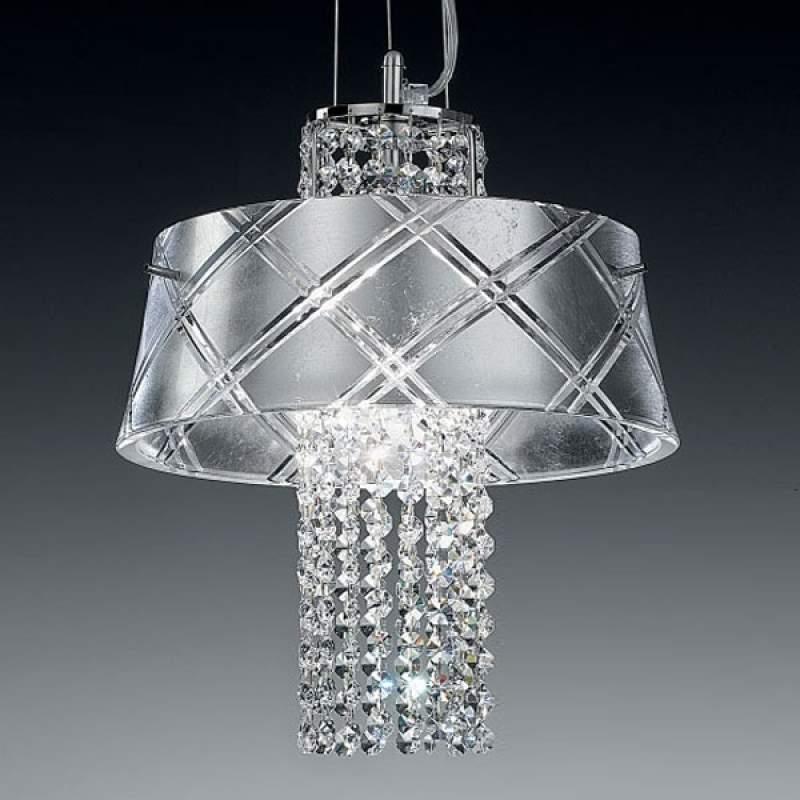 Chique hanglamp MEDUSA 30, 1-lichts, zilver