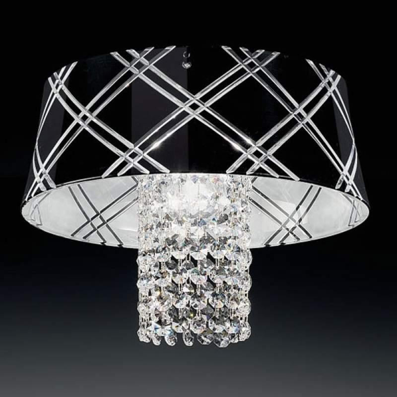 Chique plafondlamp MEDUSA 30, 1-lichts, zwart