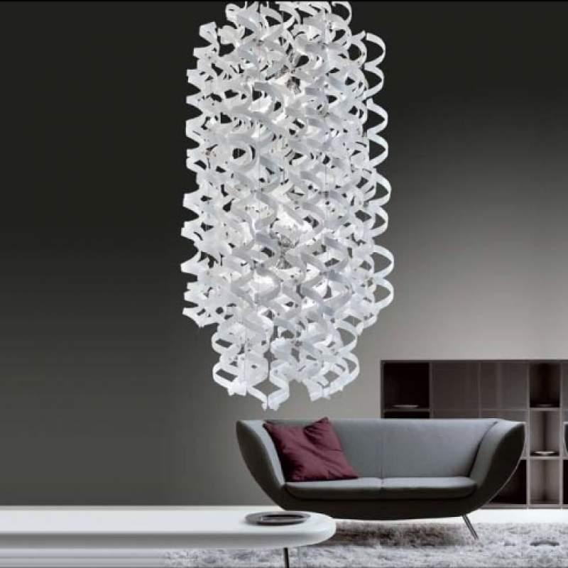 Volmaakte hanglamp White, lang ovaal