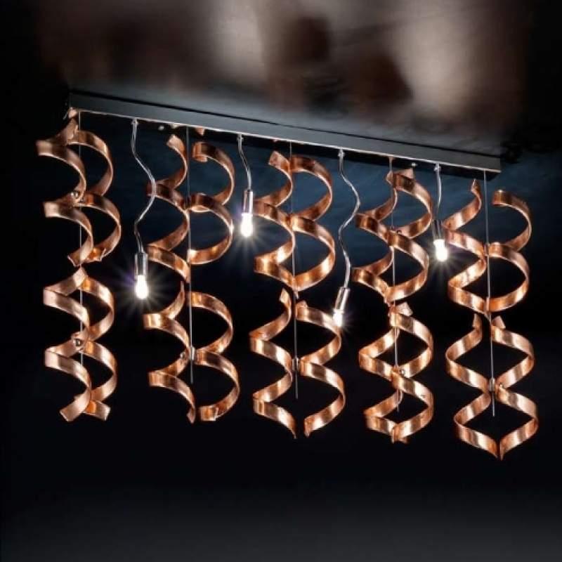 Spiraalvormige plafondlamp Copper