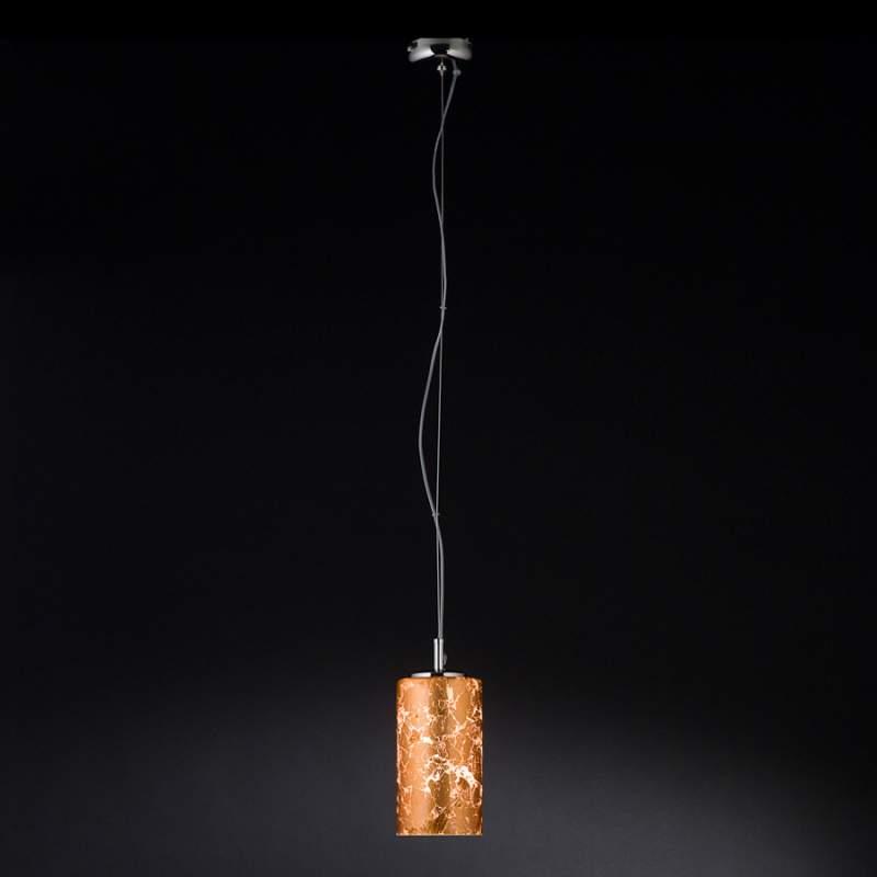 Hanglamp Brick met bladkoper