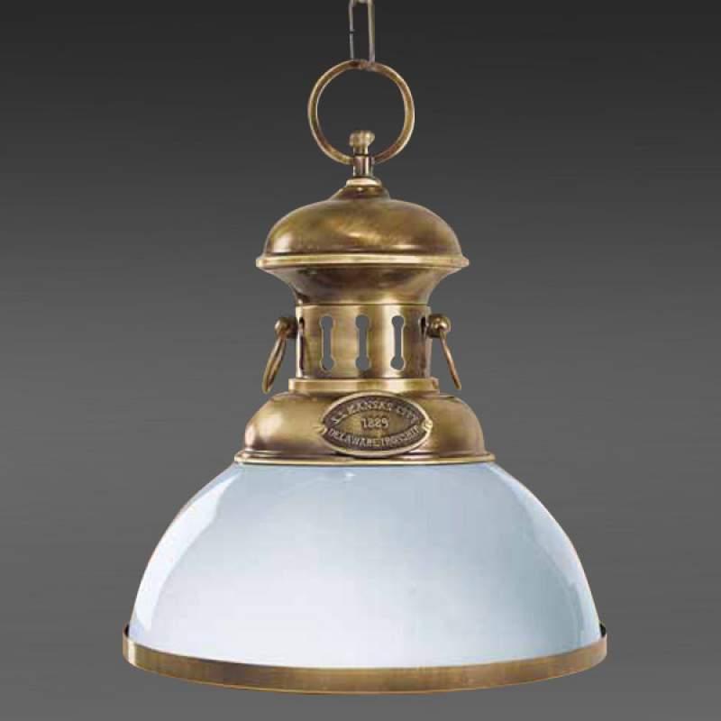 Elegante hanglamp Country, gepolijst messing