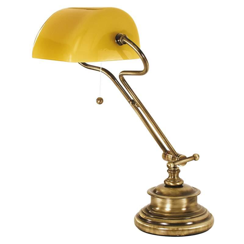 Elegante tafellamp oud-messing FIGI, amber