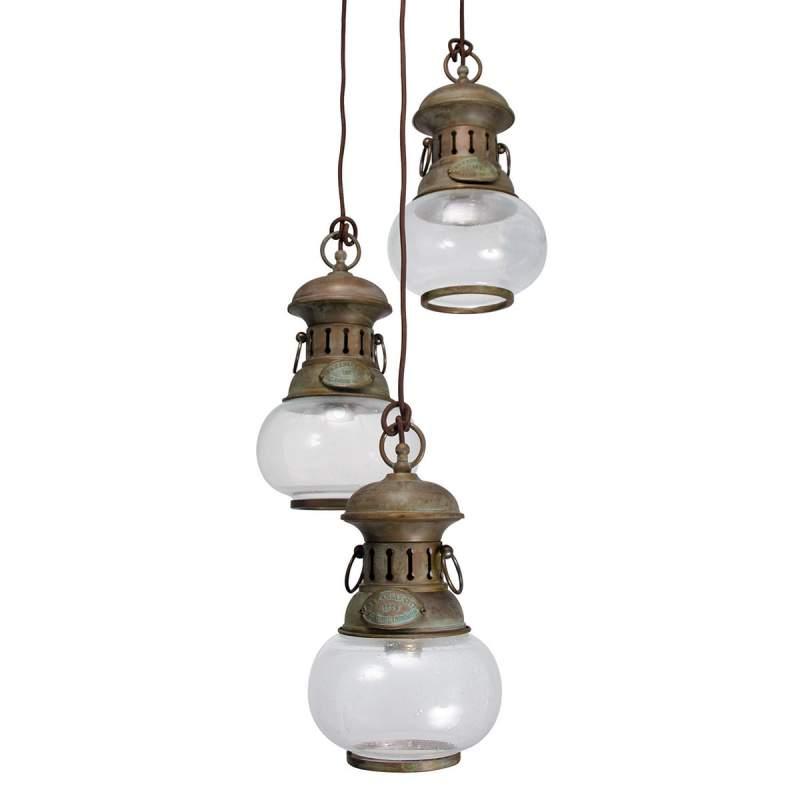 3-Lichts hanglamp Wind