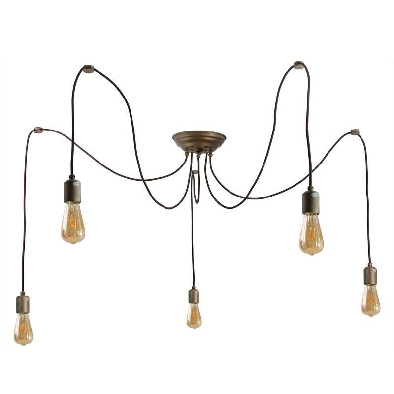 5-Lichts hanglamp Allen