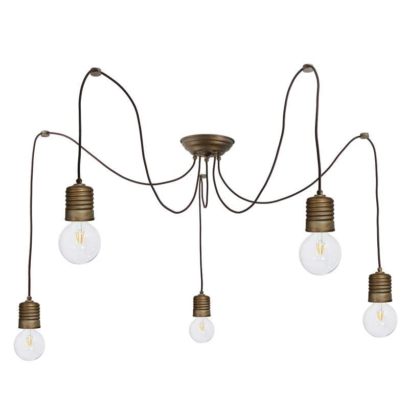 Variabele hanglamp Orti met nostalgische look