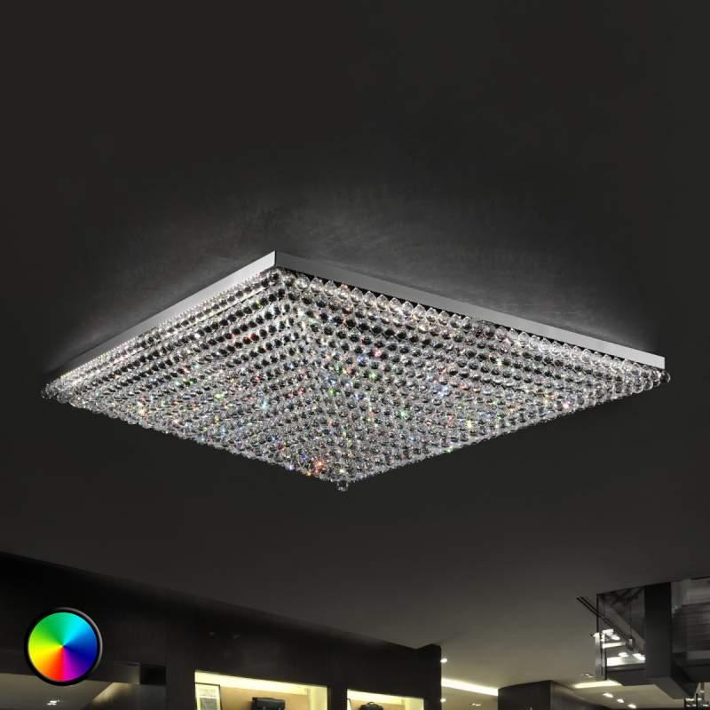 Indrukwekkende plafondlamp Ascana met RGB-led