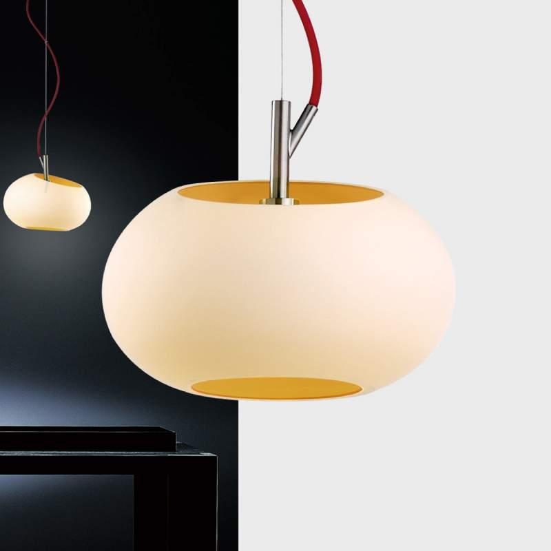 Moderne hanglamp KEY, diameter 20 cm, amber