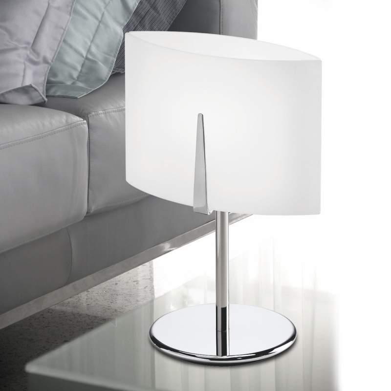 Chromen tafellamp ESTRA, 55 cm hoog
