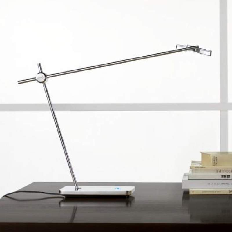 Uitstekende LED-tafellamp MOX M3010, chroom