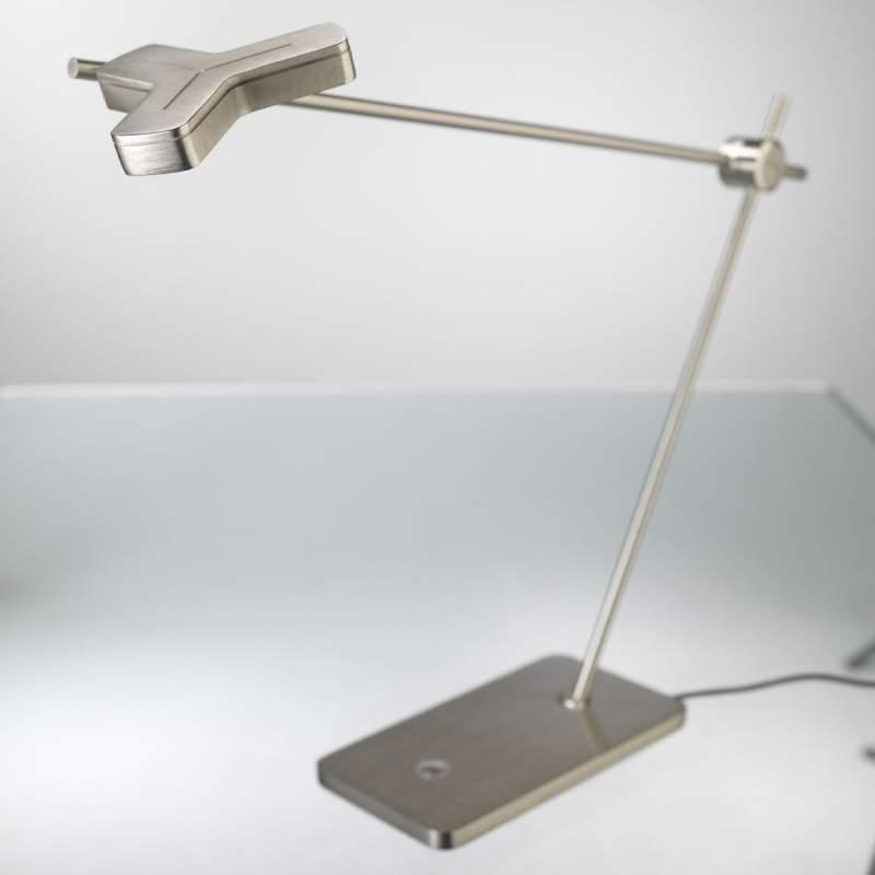 Uitstekende LED-tafellamp MOX M3010, nikkel mat