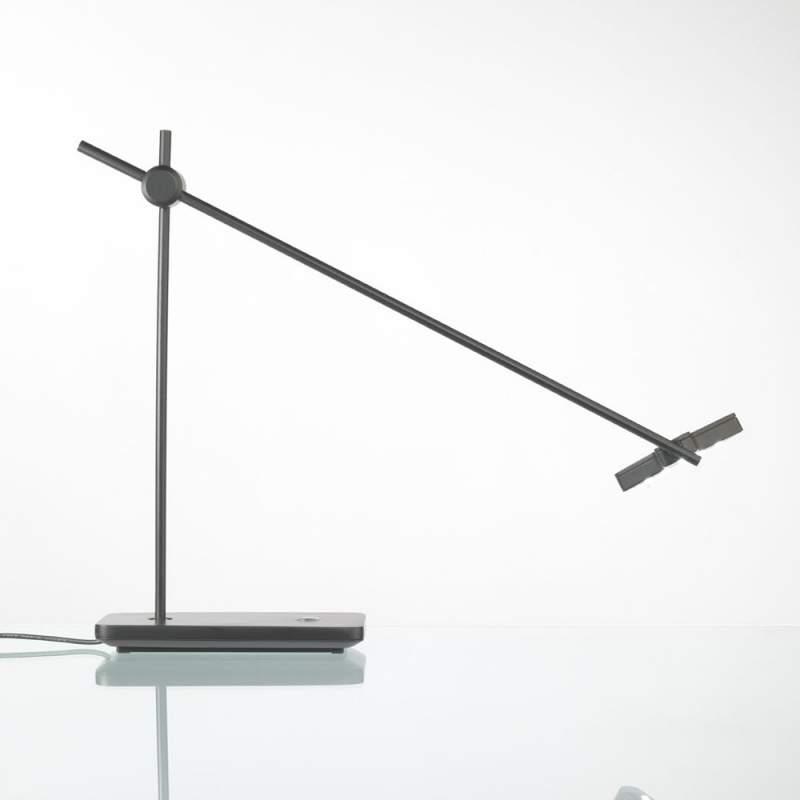 Uitstekende LED-tafellamp MOX M3010, zwart