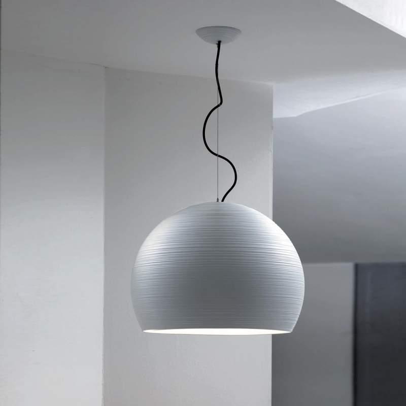 Pandora - gewelfde hanglamp, 50 cm, wit