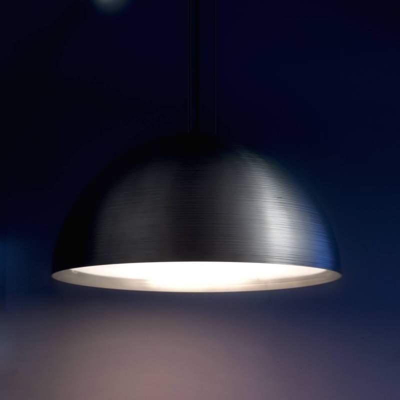 Hanglamp Pandora, halve bol, 72 cm, antraciet