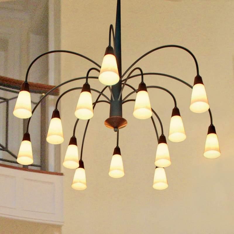 Imposante 14-lichts hanglamp STELLA