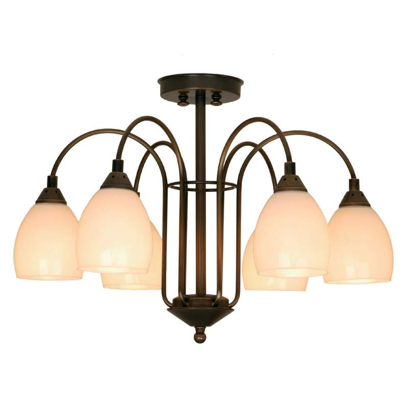ANNO 1900, stijlvolle 6-lichts plafondlamp