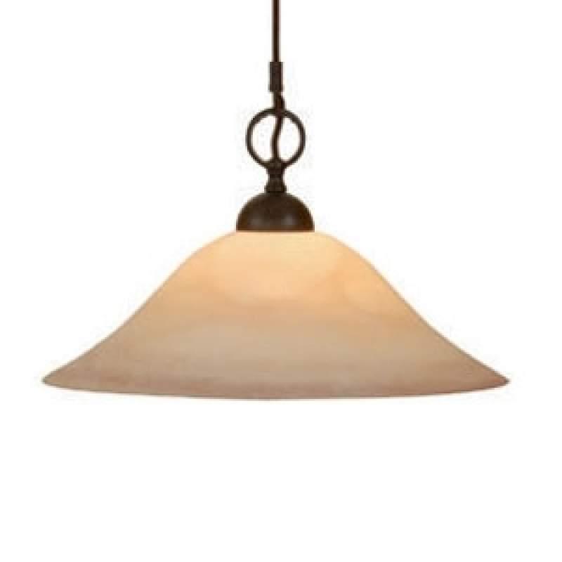 Flexibele hanglamp PUSTA met rookglaskap