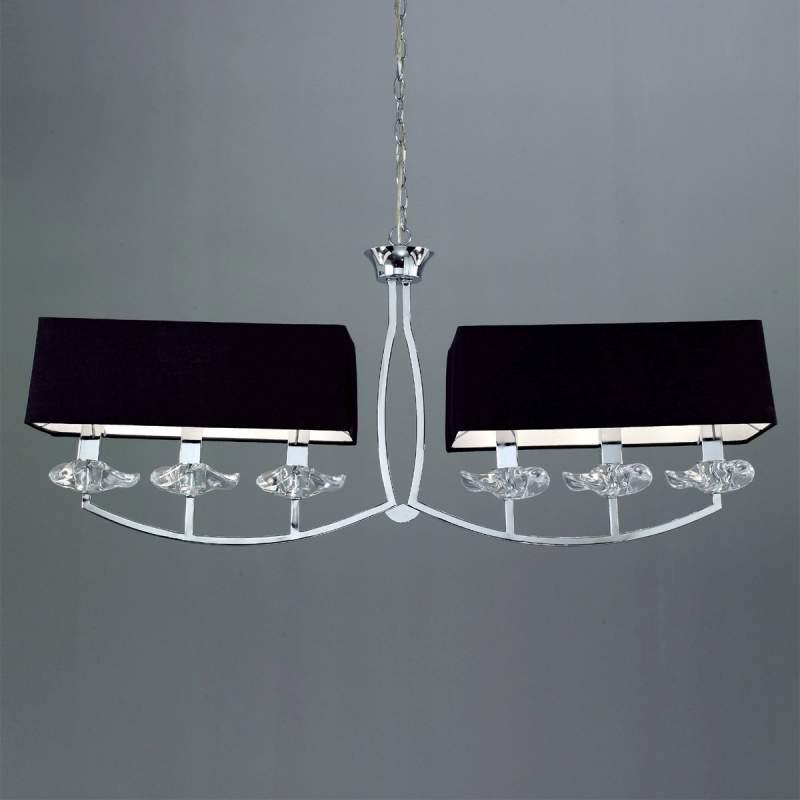 Stijlvolle balkhanglamp Akira, 6-lichts