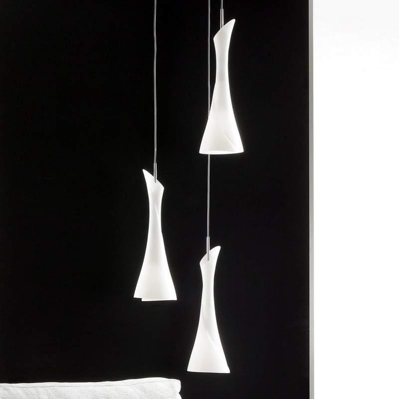 Creatieve hanglamp ZACK, 3-lichts rond