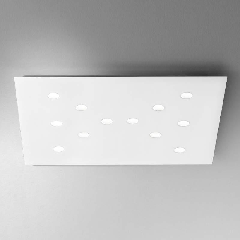 Extreem platte led-plafondlamp Slim 12-lichts, wit
