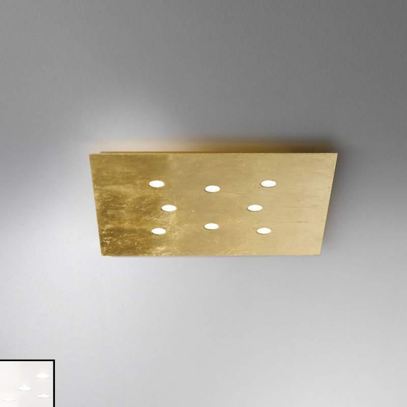 Vlakke plafondlamp Slim met led 8-lichts, wit