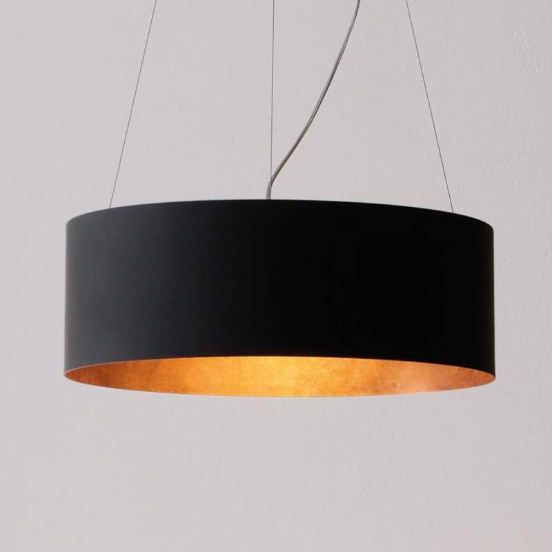 ICONE Olimpia LED hanglamp, zwart-koper