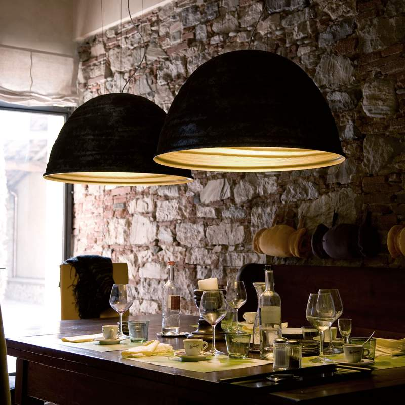 Glanzende hanglamp BABELE, 45 cm