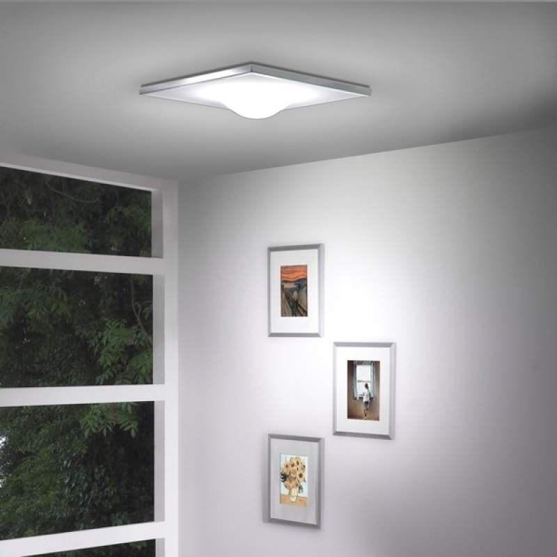 Volmaakte plafondlamp Dickey Square, 50,5 cm