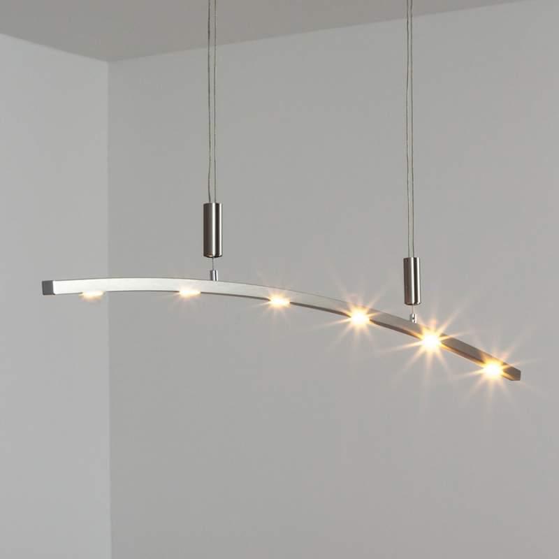 Gebogen LED-hanglamp Falo, in hoogte verstelbaar
