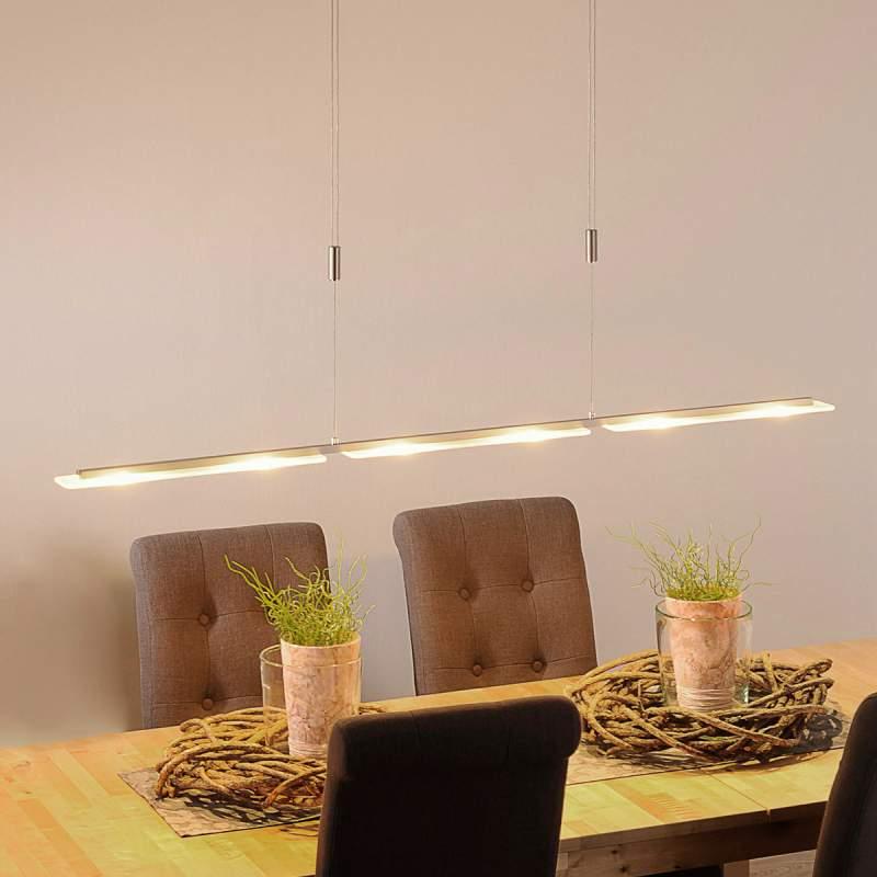 LED-hanglamp Mala van aluminium en glas