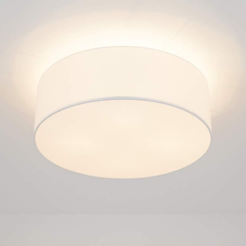 Textielplafondlamp Gala met LED, wit
