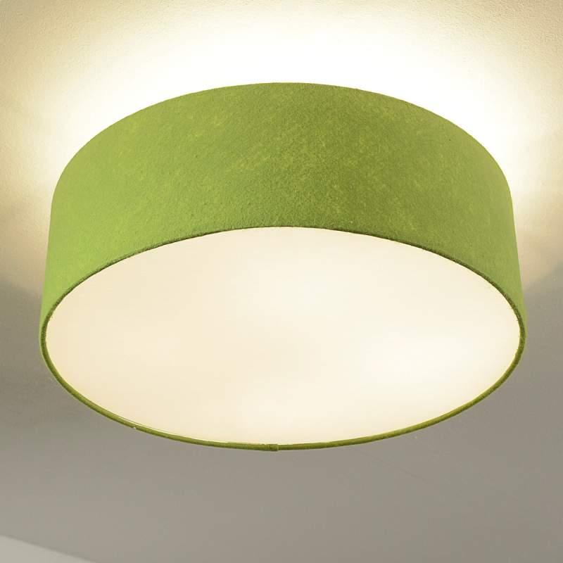 Gala - ronde plafondlam in het groen, vilten kap