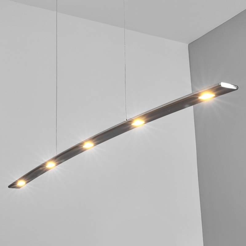 Gina - gebogen hanglamp met dimbare LED's