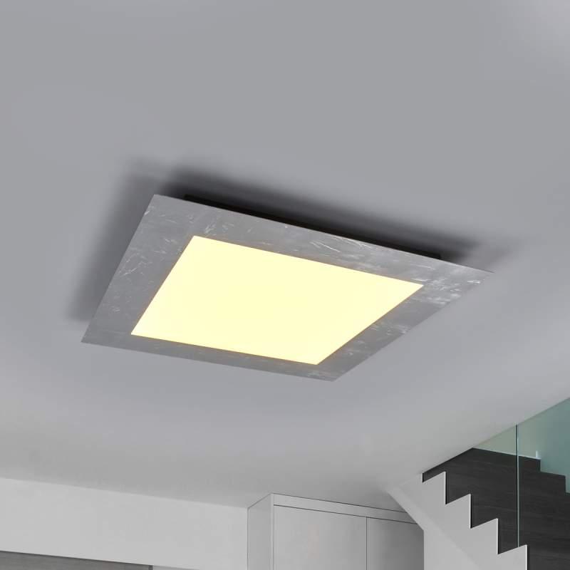 Zilverkleurig omlijst LED-paneel Deno - dimbaar