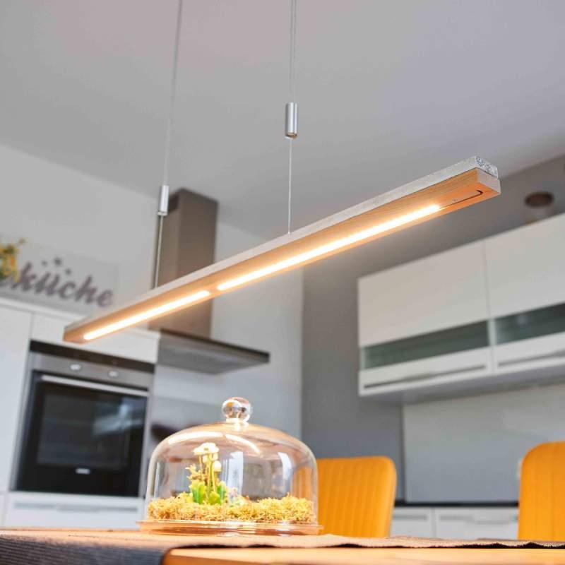 Hout en beton - Led hanglamp Kati, 118 cm