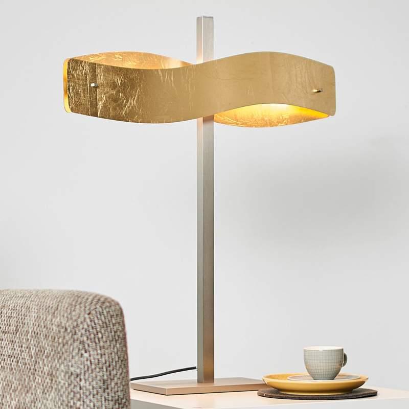 Goudgekleurde led tafellamp Lian met touch dimmer