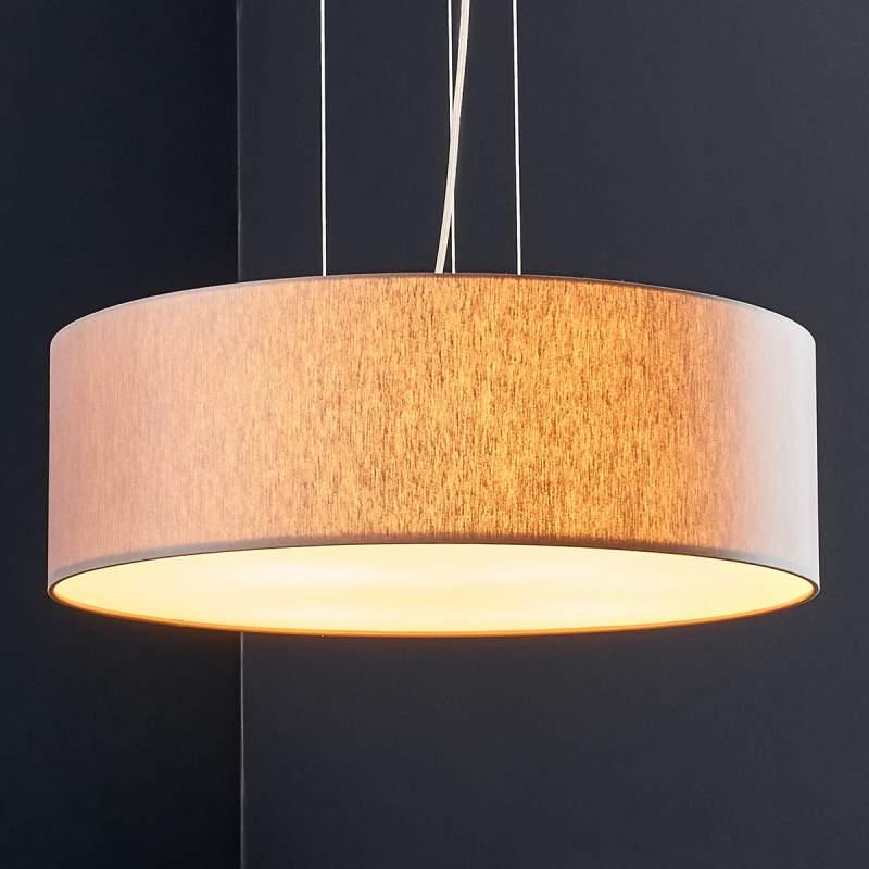 Taupekleurige textiel LED hanglamp Gala