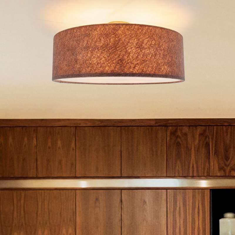 Plafondlamp Gala van vilt in beigebruin