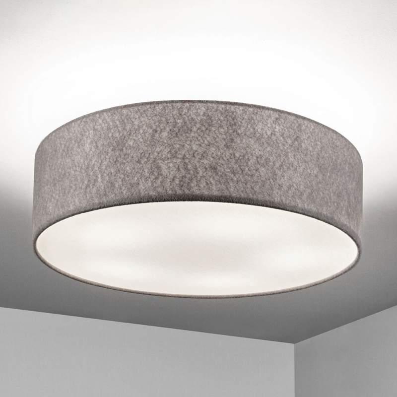 Plafondlamp Gala van beigebruin vilt, 60 cm