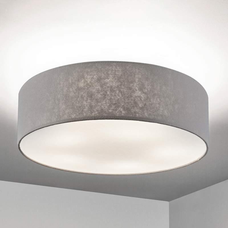 Gala - grijze vilten plafondlamp, 60 cm