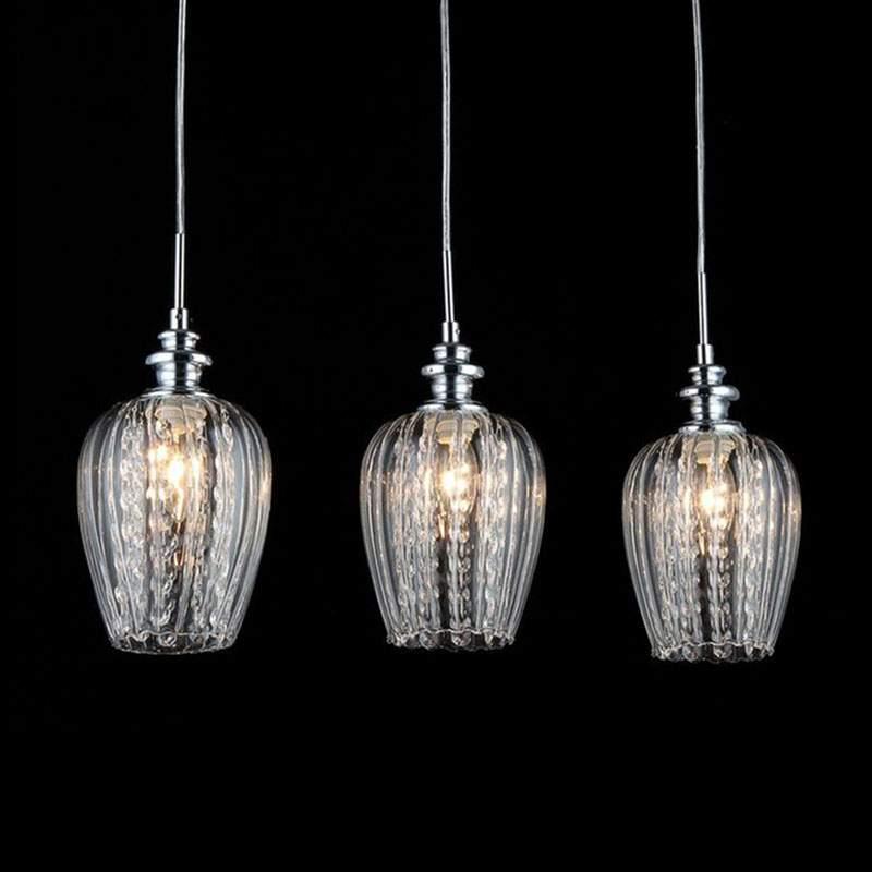 Blues - edele hanglamp met die glazen kappen