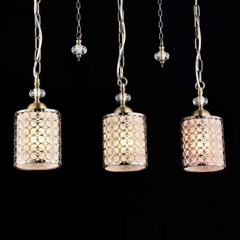 Sherbon - klassieke hanglamp met drie kappen