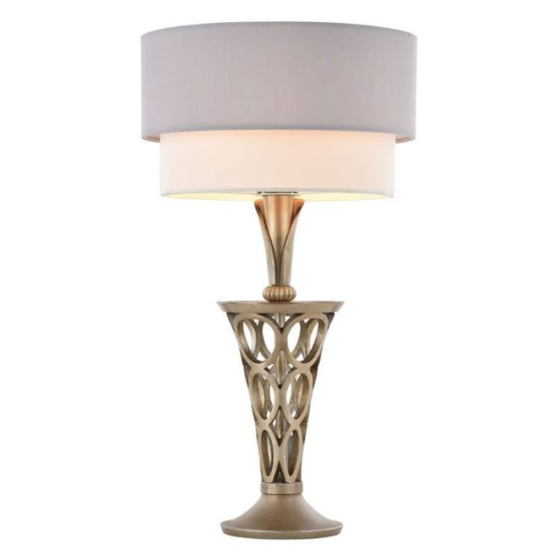 Fraai bewerkte textiele tafellamp Lilian