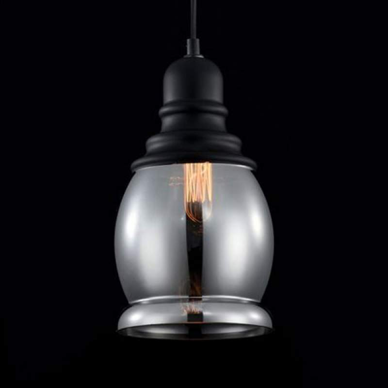Prachtige rookglas hanglamp Danas