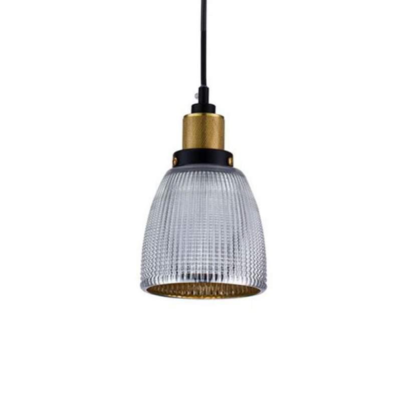 Met glazen kap - hanglamp Tempo - chroom