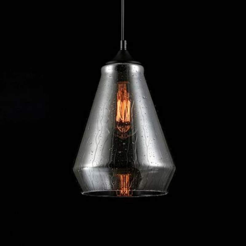 Met regeneffect - glazen hanglamp Bergen