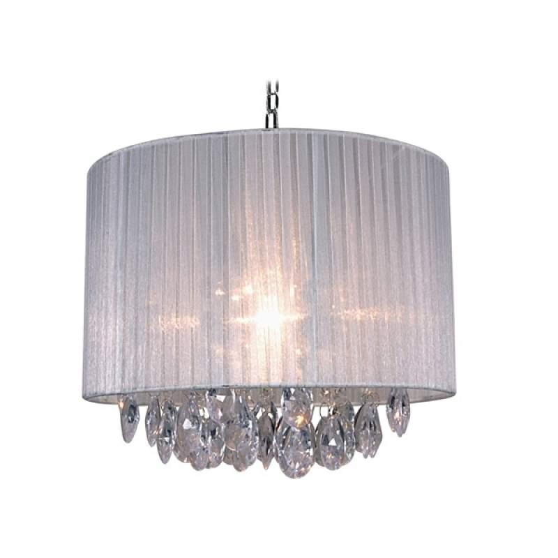 Witte hanglamp met Caris van stof