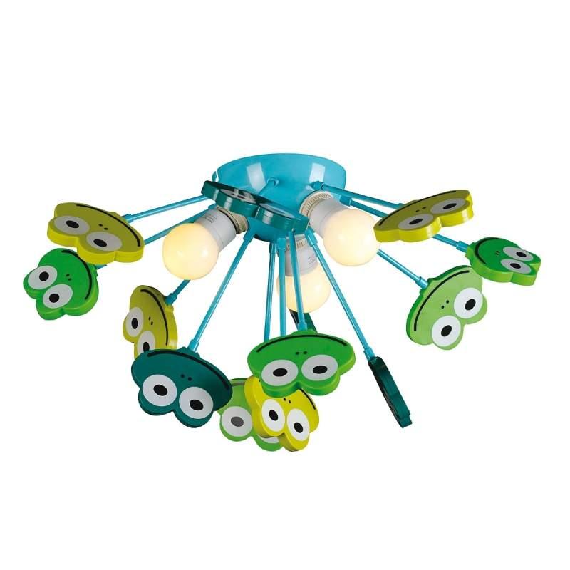 Blauwgroene plafondlamp Frosch